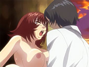 Horny anime schoolgirls big tits bounce as shes getting...