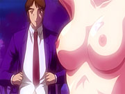 Scared anime brunette with perfect tits takes a huge cock...