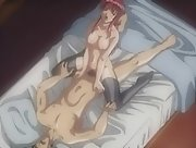 Hentai movie with sultry redhead sucking cock and then...
