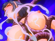 Cute anime school girl trapped by a tentacle monster